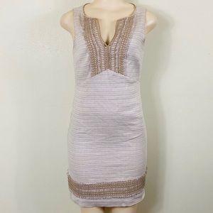 White House black market linen sleeveless dress!